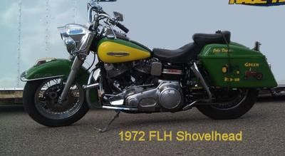 1972 Harley Davidson FLH Shovelhead Motorcycle with a Custom Paint Job: The 1972 FLH Shovelhead for sale was rebuilt in 2007 with a brand new Rev Tech 5 speed transmission, S&S Heads, S&S super E carb, electronic ignition ,