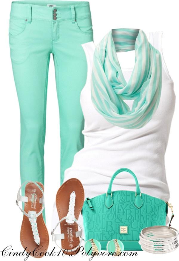 Mint & White