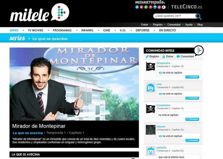 VER ON LINE.  http://www.mitele.es/series-online/la-que-se-avecina/