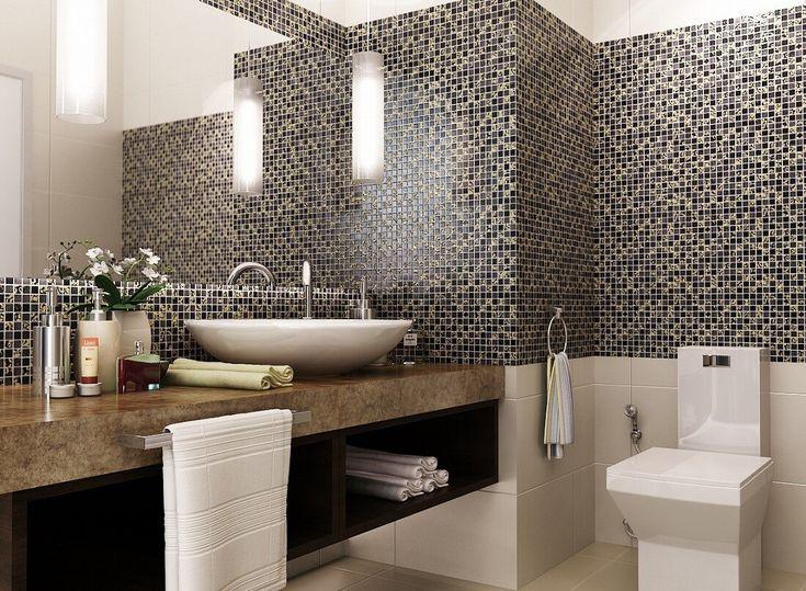 Чтобы решить проблему с неровными стенами в ванной, вам следует обратить внимание на плиточную мозаику. Она визуально сглаживает поверхность и при этом вносит разнообразие и определенную изюминку в ваш интерьер. Не смотря на свою доступность, мозаичная плитка никогда не выйдет из моды, и всегда будет материалом для лепки дизайнерских фантазий. #сантехника #плитка  ✒Выбрать на сайте: http://santehnika-tut.ru/mozaika/
