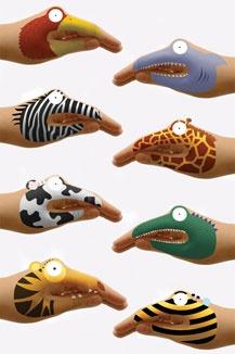 animal hands tattoos