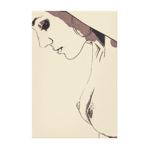 Sexy tease, hot blonde topless posing erotic nude canvas print