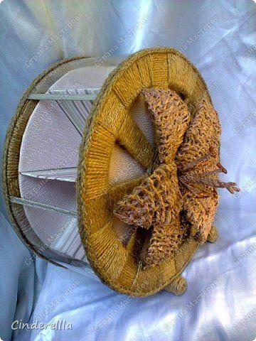 Поделка изделие Моделирование конструирование Плетение Чайное колесо МК лилии Запись обновляется фото добавляются Картон гофрированный Клей Краска Шпагат фото 2