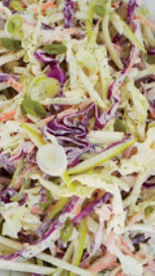 Coleslaw with Apple and Yogurt Dressing via @AOL_Lifestyle Read more: http://www.epicurious.com/recipes/food/views/Coleslaw-with-Apple-and-Yogurt-Dressing-51104610