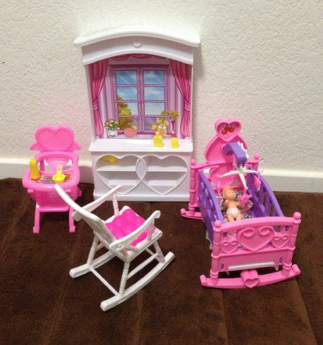 Barbie Size Dollhouse Furniture  New Baby Room Play Set Huaheng Toys Http://