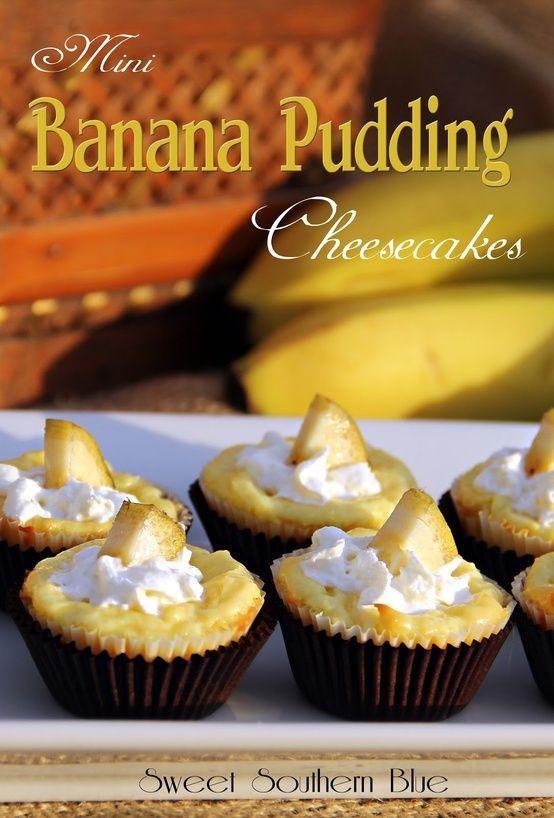 Sweet Southern Blue: Mini Banana Pudding Cheesecakes