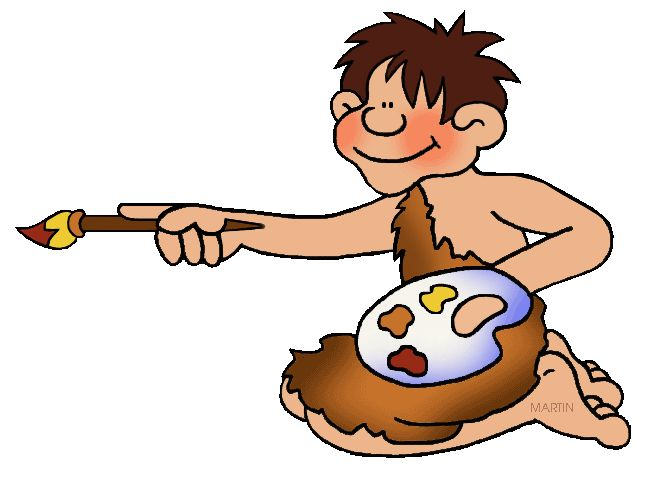 Free Early Humans Clip Art by Phillip Martin, Cave Painting