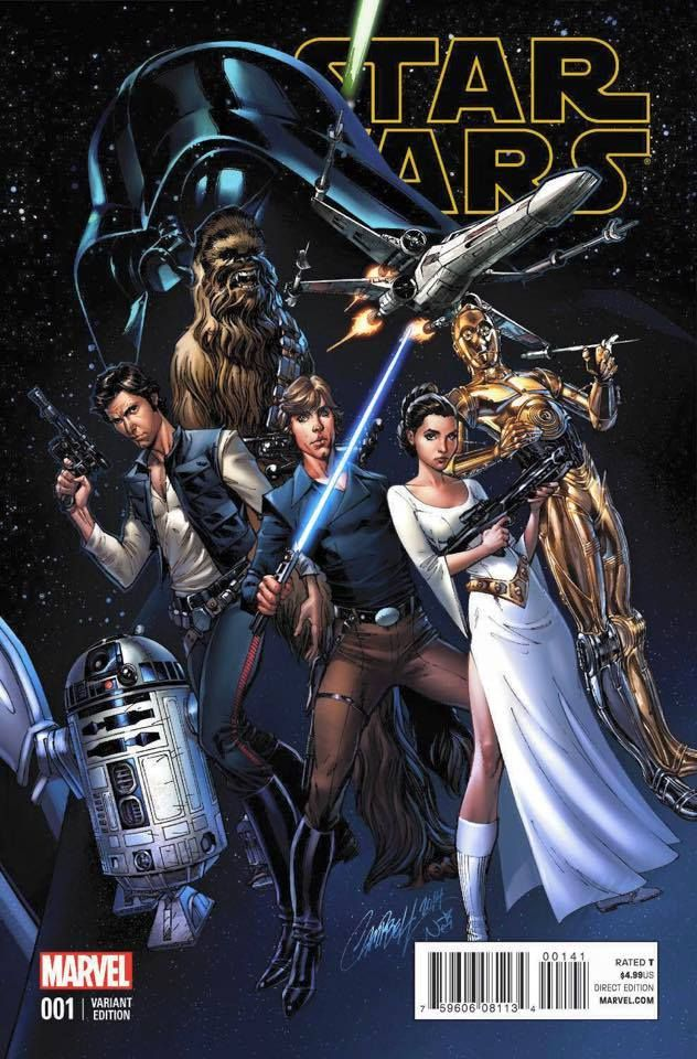 Star Wars #1 variant cover •J. Scott Campbell, colours by Nei Ruffino