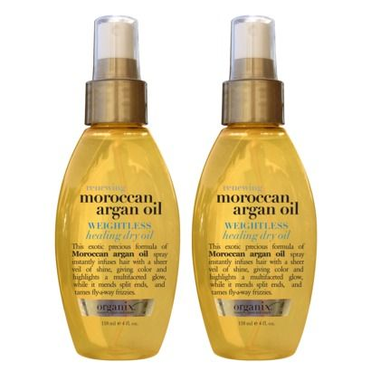 Organix Moroccan Argan Oil Weightless Healing Oil 4 oz. - $5.79! For the school mornings with my dry hair !!