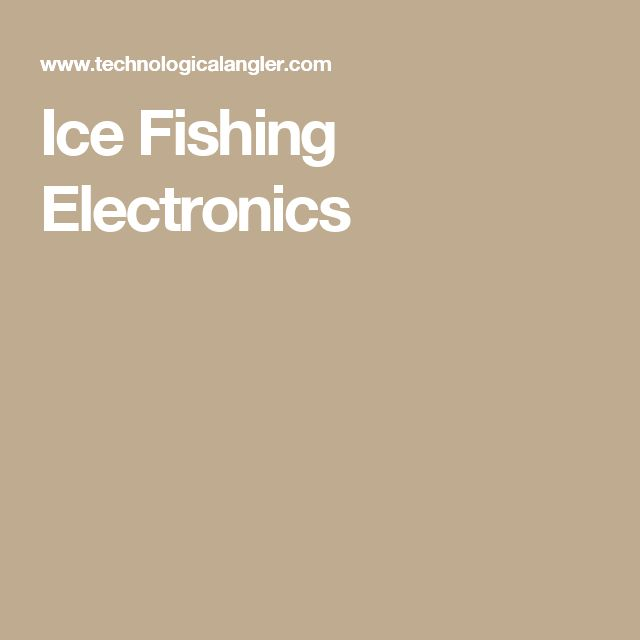 41 best compact pickup camper ideas images on pinterest for Ice fishing electronics