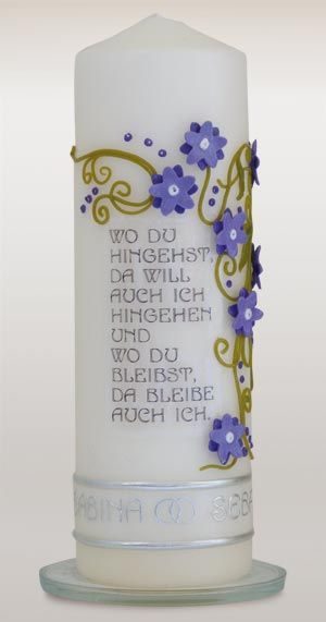 hochzeitskerze, wedding candle www.wachsundwerk.de