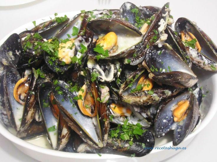 Mejillones en salsa de nata y puerro - Las mejores recetas de Huga