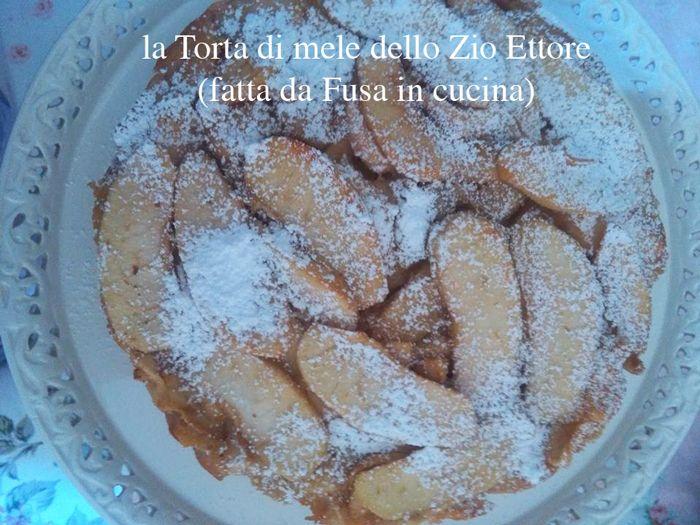 """""""Eccola la mitica Torta di mele dello Zio Ettore di Sabrine d'Aubergine in tutto il suo splendore e sapore. Ricordo che è appena uscito il suo libro per Natale con altre meraviglie!"""" (messaggio e recensione proveniente da """"Fusa in cucina"""": grazie di cuore e complimenti per la torta!) #quifragoleamerenda"""