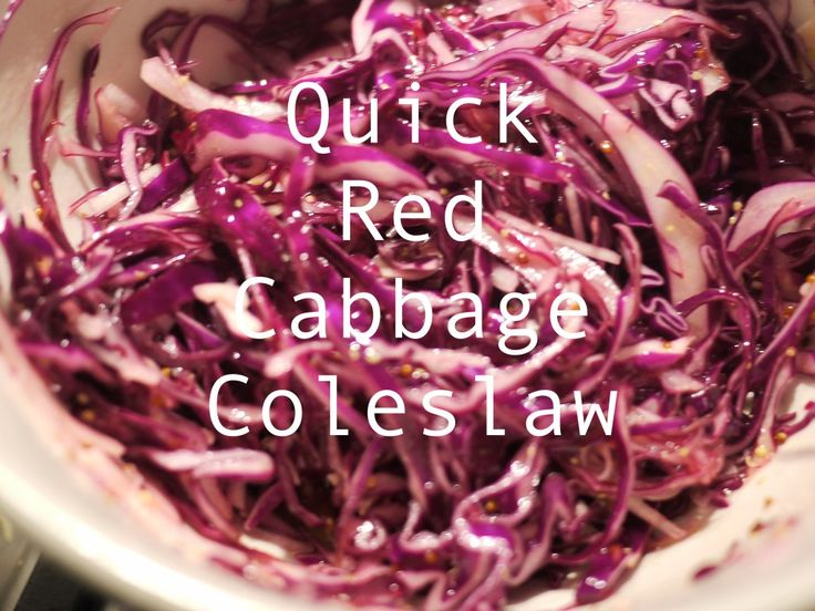 quick red cabbage coleslaw