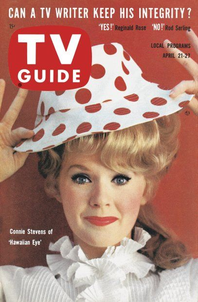 "TV Guide, April 21, 1962 - Connie Stevens of ""Hawaiian Eye"""