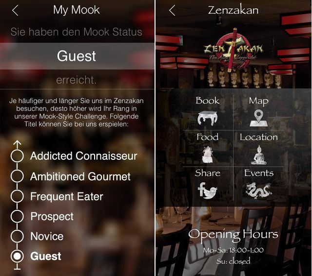 Mook, a German restaurant group recently integrated iBeacon technology with their existing mobile app to reward their customers for spending time at the restaurant.