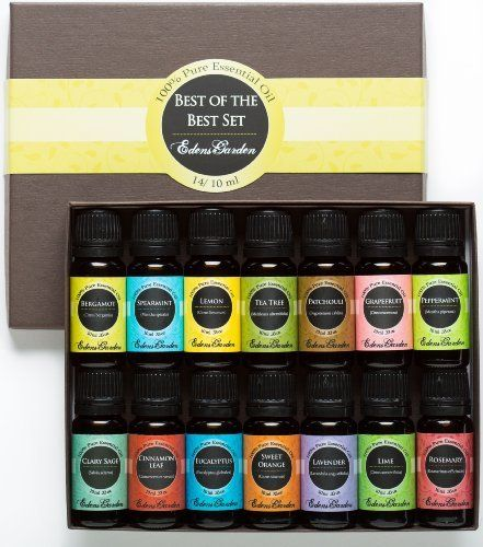 Essential Oil- Beginners Best of the Best Aromatherapy Gift Set- (100% Pure Therapeutic Grade Essential Oils) 14/ 10 ml, http://www.amazon.com/dp/B002RSMAD8/ref=cm_sw_r_pi_awdm_IByxtb0SXH8B9
