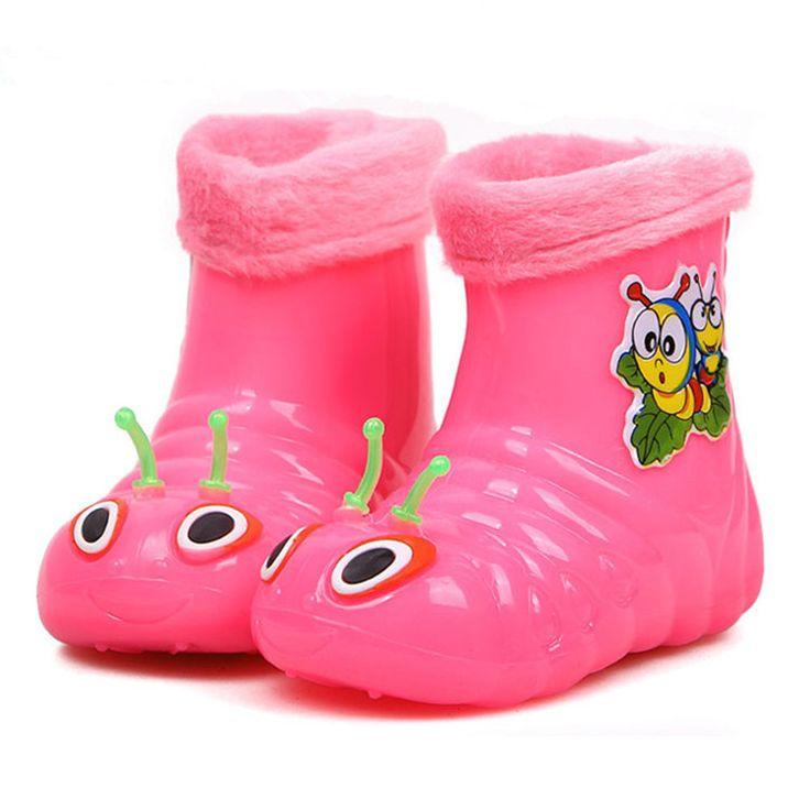 2014 rups ontwerp kinderen regenen schoenen winter laarzen voor jongens en meisjes kinderen regen laarzen sneeuw cottonpadded warme schoenen... via http://nl.aliexpress.com/w/wholesale-child-rain-boot.html