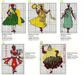 ♥Meus Gráficos De Ponto Cruz♥: Africa: Orixás em Ponto Cruz
