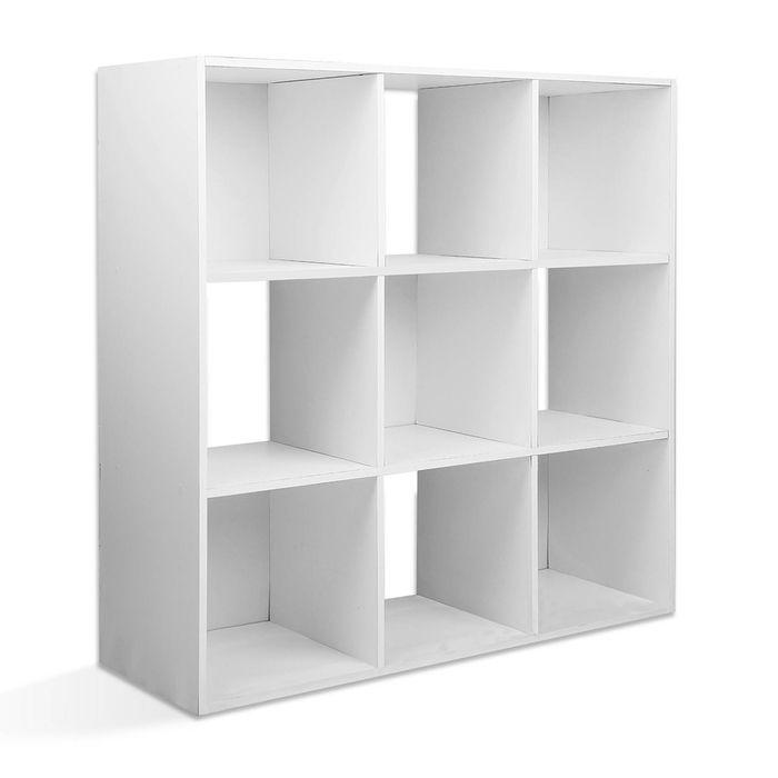 9 Cube Display Shelf Bookcase White