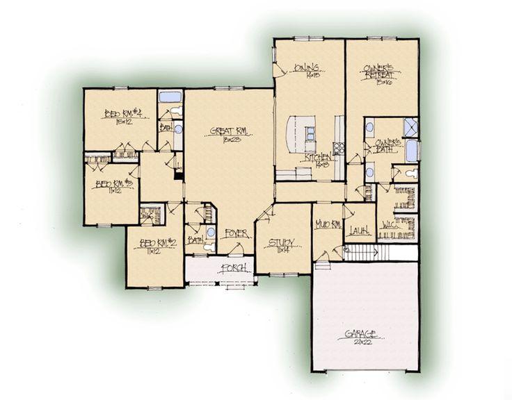 Custom Home Builder Floor Plans: Verona B - South Central