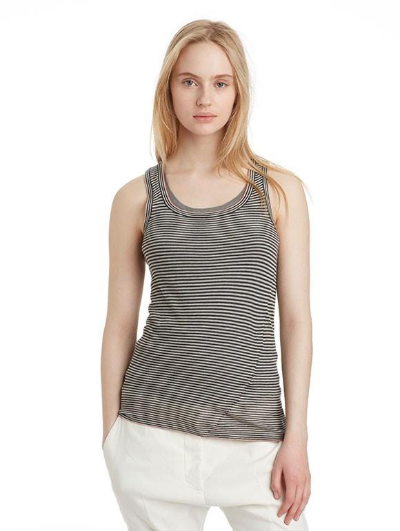 INHABIT Womens Twisted Striped Tank - Hazel