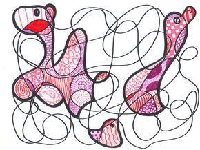 Kunst in de stijl van Dubuffet 2013-2014 - De website van kunstopdemagnolia!