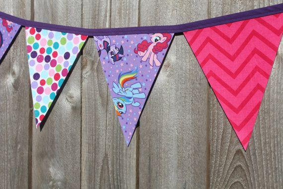 My Little Pony Bunting Banner My Little Pony Birthday by RuntCakes