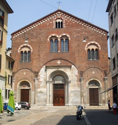 Basilica San Simpliciano on the fringes of Brera in Milan.