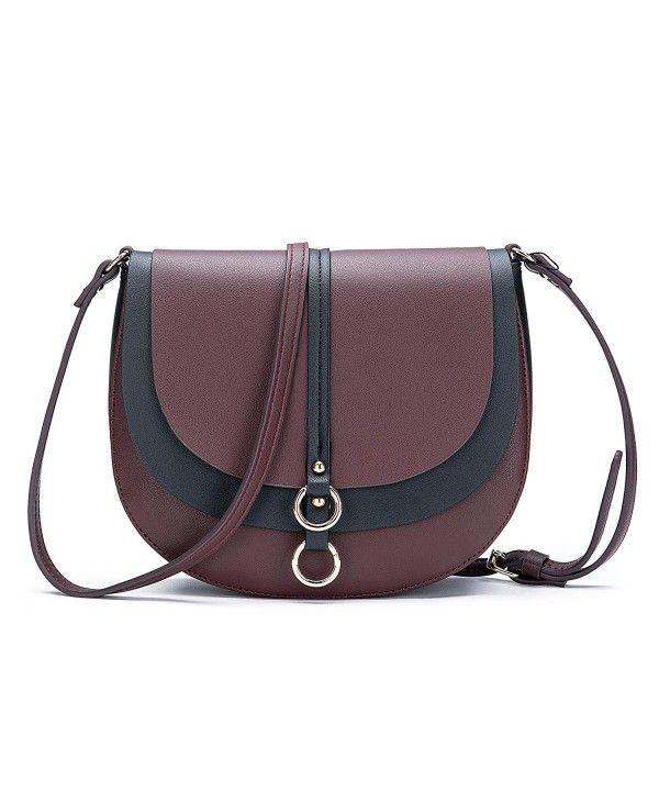 1437c7b71d02 Women Crossbody Bag Saddle Shoulder Bag Small Purse Brown Hasp ...
