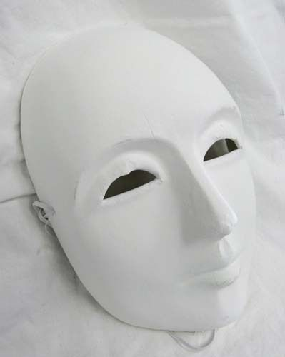 Plain White Face Mask Blank Craft Masks Paper Mache  eBay