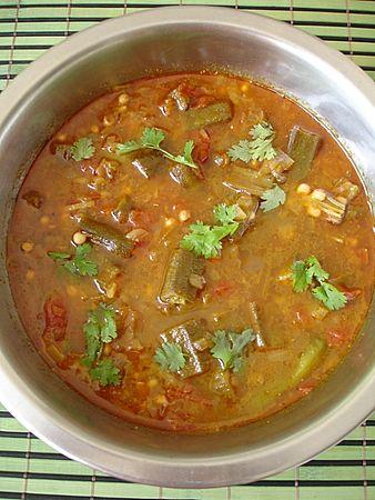 Bendakaya Pulusu - Okra in tamarind gravy - Indian Food Recipes | Andhra Recipes | Indian Dishes Recipes | Sailu's Kitchen