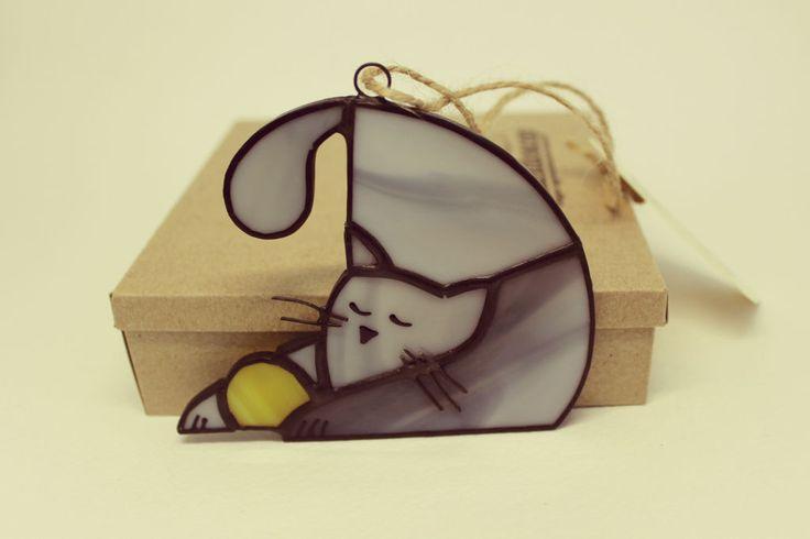 Купить Игривый котёнок - серый, котенок, кот, котик, игрушка ручной работы