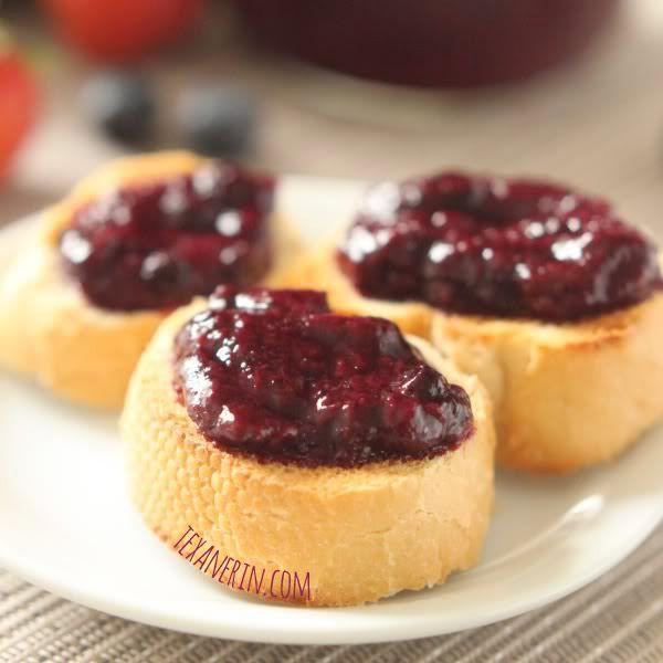 Strawberry Blueberry Jam (honey sweetened, pectin free) - Texanerin Baking