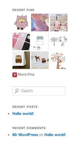 Pinterest Pinboard Widget for WordPress.
