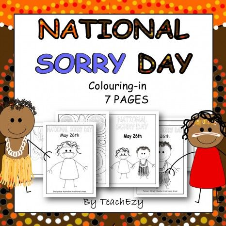 Sorry Day Colouring Pages-an easy way to introduce the meaning of this important day to early learners. www.teachezy.com