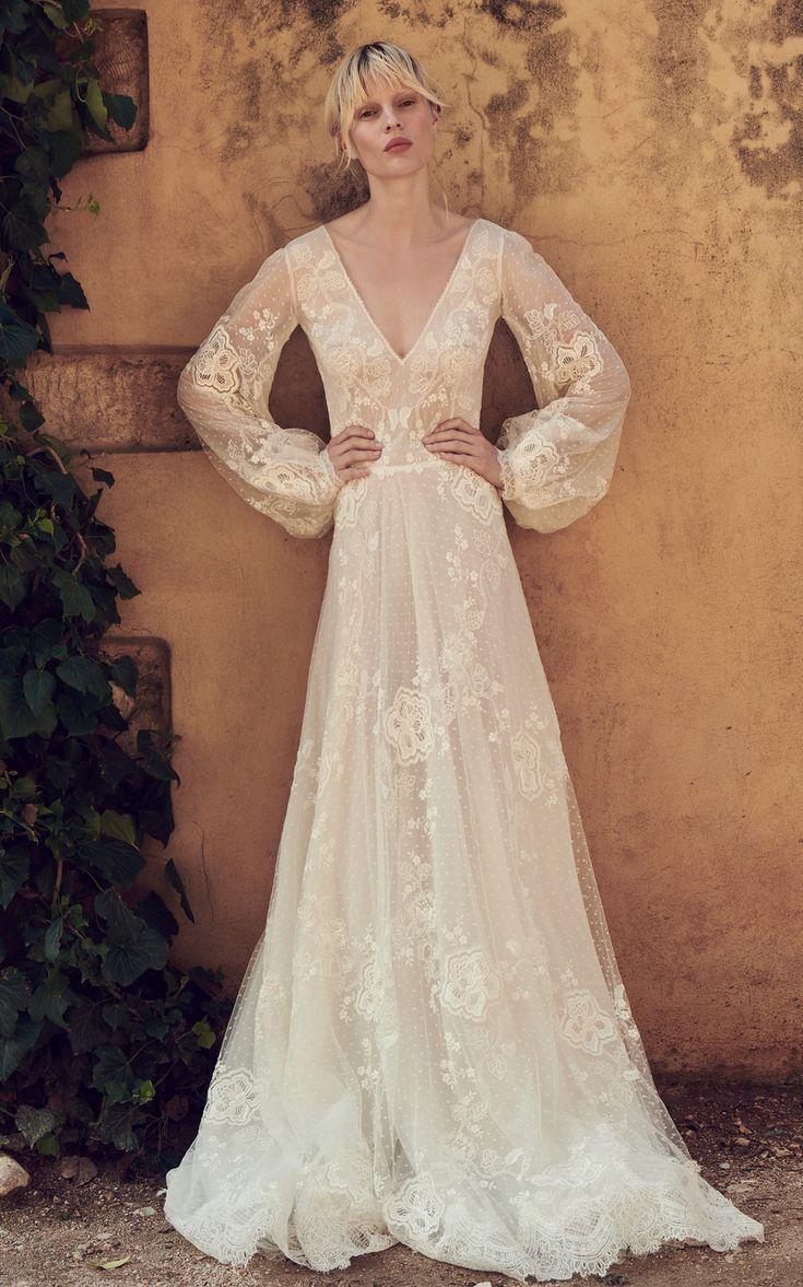 19++ Bardot wedding dress with sleeves ideas