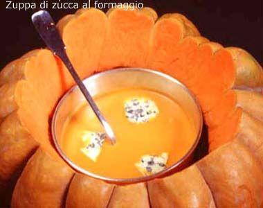 Zuppa di zucca al formaggio - Le ricette di alfemminile.com