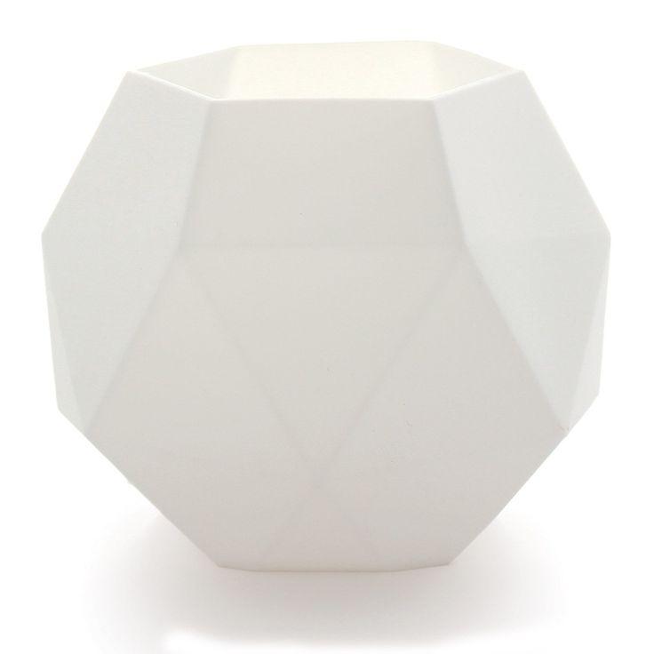Fasett kynttilälyhty, valkoinen ryhmässä Sisustustavarat / Koristeet / Kynttilänjalat & Lyhdyt @ ROOM21.fi (128098)