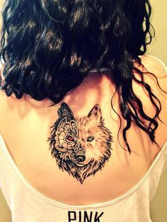 I've never seen such a beautiful wolf tattoo. I love this so much