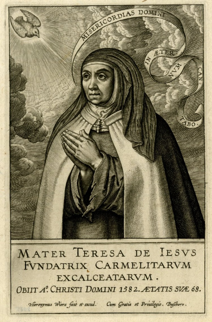 st teresa of avila essay This paper is a historical song review that compares the lyrics of joan osborne song, `st teresa`, to the actual events in the life of st teresa, the 16th century spanish nun.