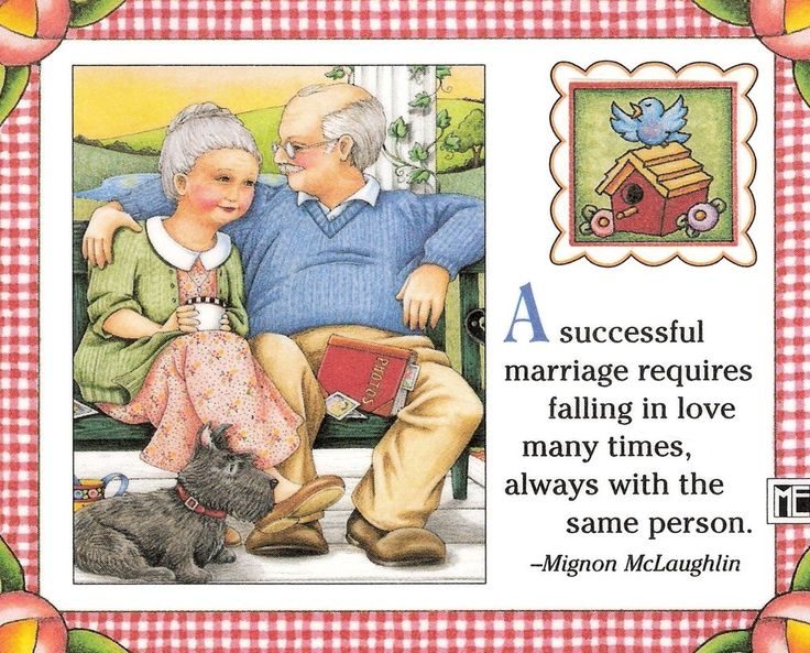 Successful Marriage Requires Fall In Love Many Times Magnet Mary Engelbreit Art