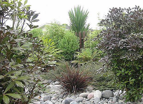 native garden design | Native Plantings NZ. Dry River Garden. NZLANDSCAPES.COM. Landscape ...