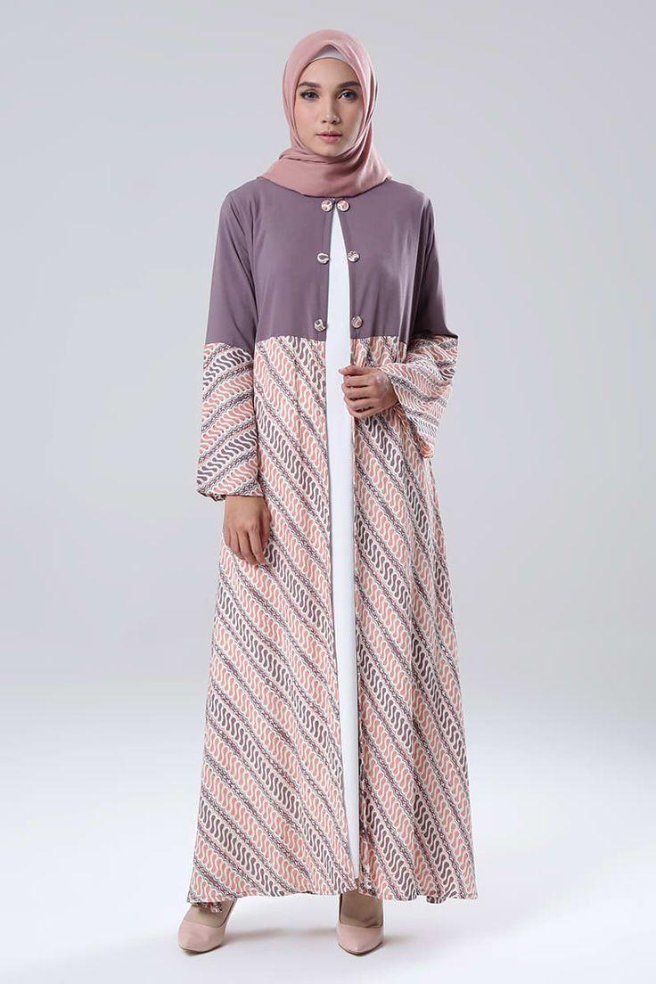 Blazer Dress Alikra MK | Koleksi Long Dress Muslimah Blazer Dress Alikra MK Dari Qonita Batik | HIJUP