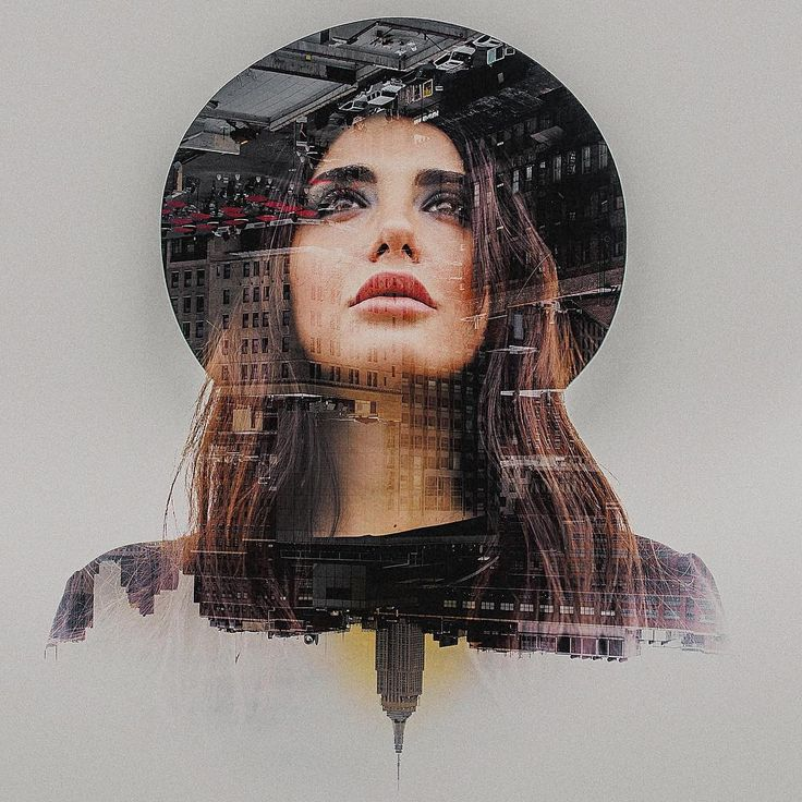 I like how the double exposure shows what she is looking at. It also describes her, in a way.