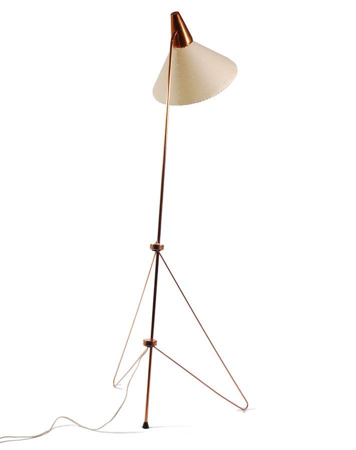 Josef Hůrka, floor lamp for Napako, 1950s