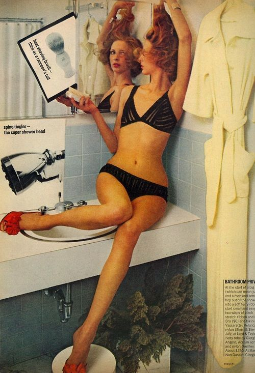 """The Chic Around You"": Karen Bjornson by Oliviero Toscani for Vogue US June 1974"