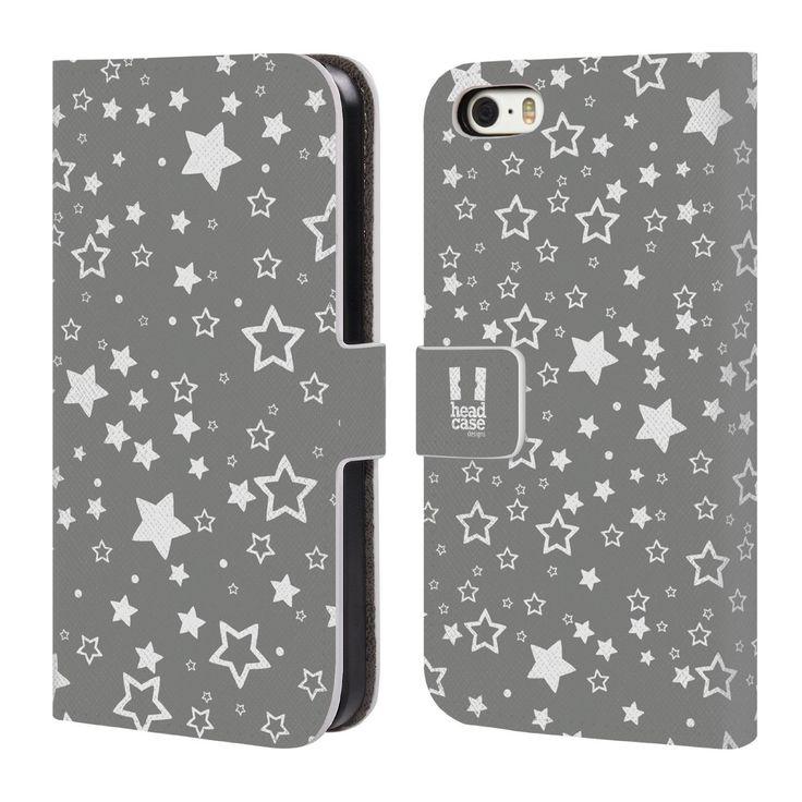 Head Case Sterne Silber Urlaub Kollektion Brieftasche Handyhülle aus Leder für Apple iPhone 5 / 5s: Amazon.de: Bekleidung