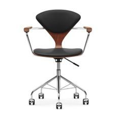 cherner task chair with upholstered seat pads