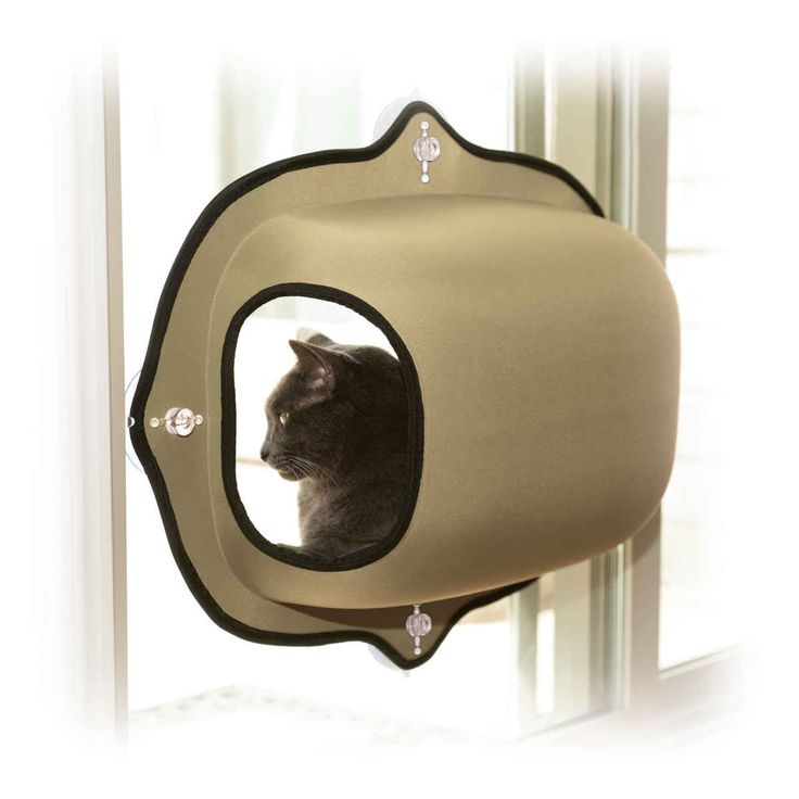 "K&H Pet Products EZ Mount Window Pod Kitty Sill Tan 27"" x 20"" x 20"""